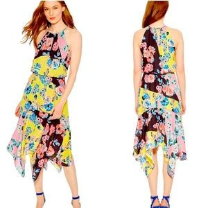 NWT Parker yellow Cecilia Floral Dress - size L